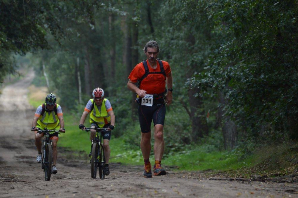 Salland Trail 100KM, Editie 2016, van km 4 t/m km 50 in laatste positie.