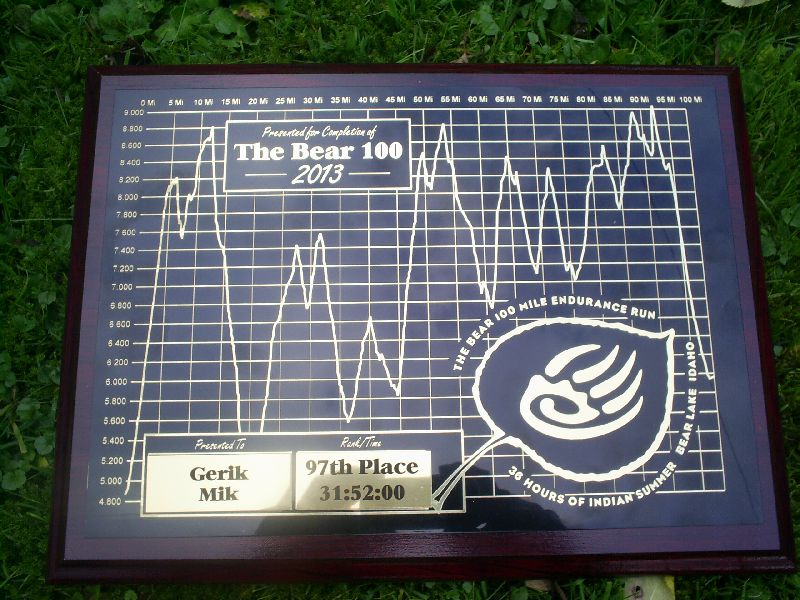 bear100 engraved plaque
