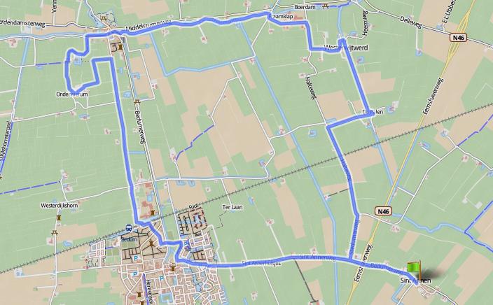 Ronde1, 50 mijl van Sint-Annen