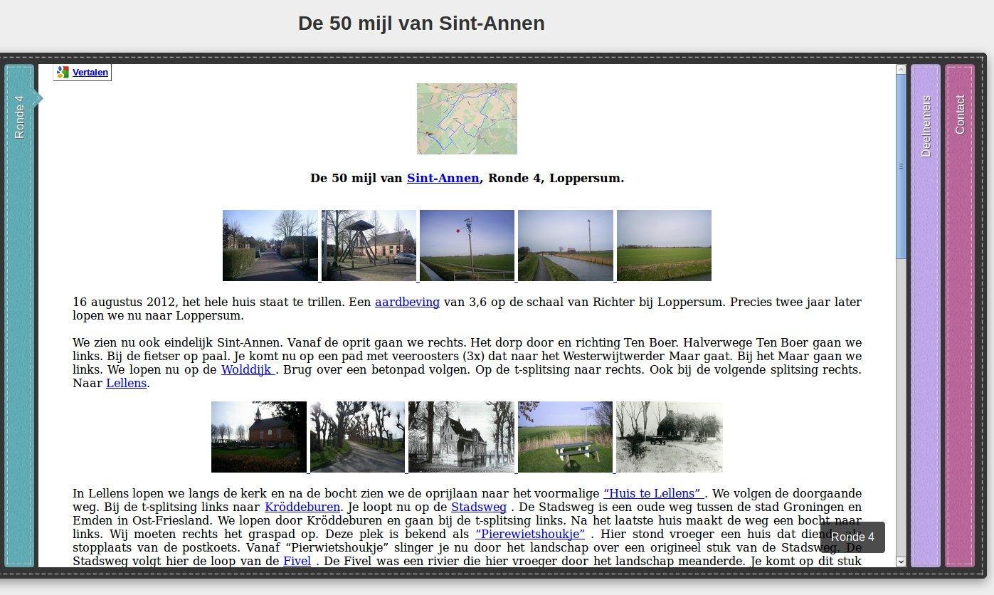 Ronde 4, 50 mijl van Sint-Annen